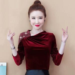 AFFNIQCHIC Cabery,Fashion Korean Style Women Long Sleeve Velvet Blouse