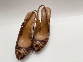Authentic Sergio Rossie Snake Skin Heels