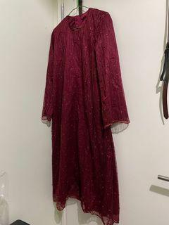 Baju Pesta / Kondangan hijab merah