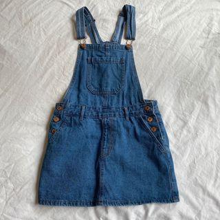 Denim overalls dress