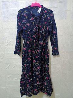 Dres ala ala wanita Korea dengan motif bunga bunga cinta 08