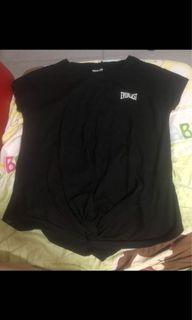 女裝Everlast黑色短袖上衣(uk 8)(只著過兩次.新舊如圖)