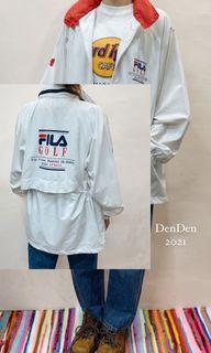Fila古著外套 純白很乾淨