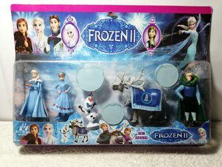 Frozen II Character FigureToys Set 5 in 1 Pack, Includes Elsa, Anna & Olaf