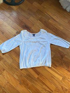 GAP white long sleeve blouse