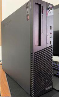 i5-4590,1GB GPU, 4GB ram,120GB SSD, 500GB HDD,Lenovo Thinkcenter M73 (AMD HD7450 1GB GPU, win 10 pro Original)