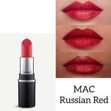Mac Lipstick (shade: Russian red)