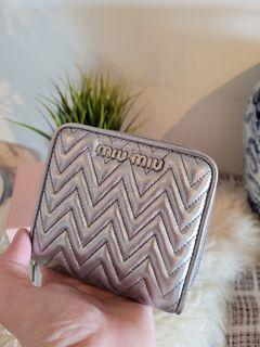 Miu Miu Bi Fold Nappa Impunture Wallet