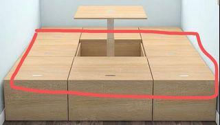 Movable Tatami bed/storage boxes