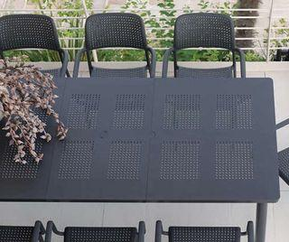 Brand new Nardi Libeccio 88 in. x 40 in. Patio Table with extension