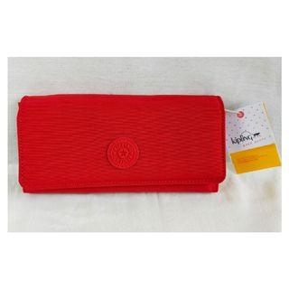 Original Kipling Teddi Long Wallet in Cherry Red 🆓 Delivery within MM