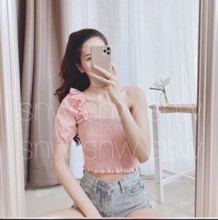 Pink Top One Shoulder