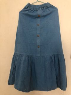 Rok Jeans Tria Button Skirt