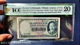 Straits Settlements 1 dollars 1935