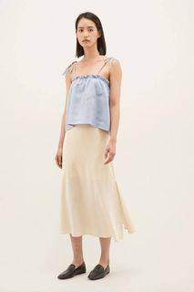 The editors market tem caicey strap tie top steel blue basic