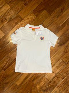 white collared button shirt