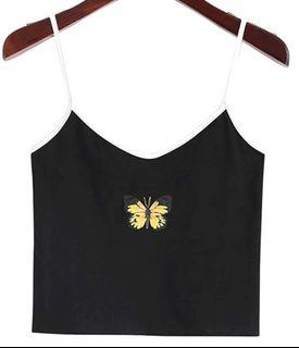 ZAFUL Women's Butterfly Graphic Crop Camisole