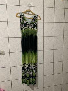度假風格長洋裝 長度約126 腰圍約45
