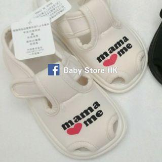 🌟快閃優惠🌟  (15cm) 西松屋 女小朋友嬰兒BB 鞋寬度可調節 柔軟透氣防刮腳涼鞋學行鞋 沙灘鞋 出口日本  baby girl shoes