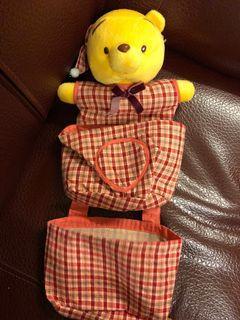 小熊維尼可掛式置物袋娃娃玩偶