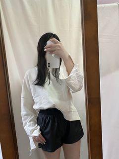 白色寬鬆衛衣