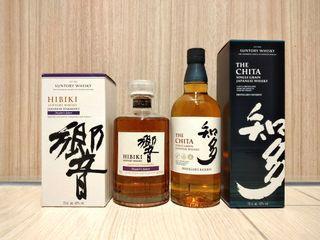 【父親節精選】 響大師精選+知多穀物威士忌, 700ml x 2, 43%