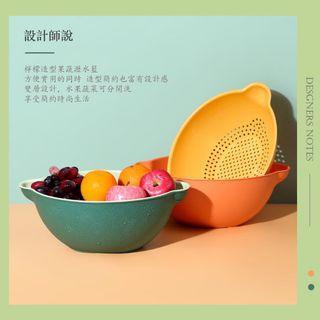 雙層瀝水籃 瀝水籃 收納籃 瀝水 雙層 洗菜籃 水果籃 雙層可拆式洗菜籃 蔬果盆 洗米盆 廚房用品