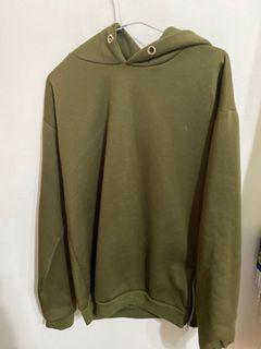 橄欖綠 寬版 帽T