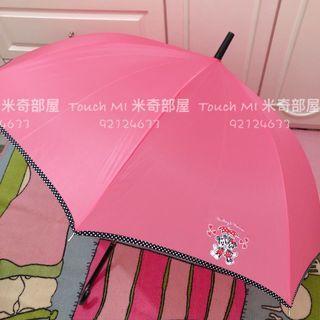 《日本直送》 ⭐️最後一把⭐️ Disney Mickey Minnie Love and Love 長遮 米奇 米妮 雨傘 雨遮 直遮 pink color umbrella 粉紅色