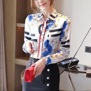 AFFNIQCHIC Cache,Fashion Korean Style Women'Long Sleeve Chiffon  Blouse