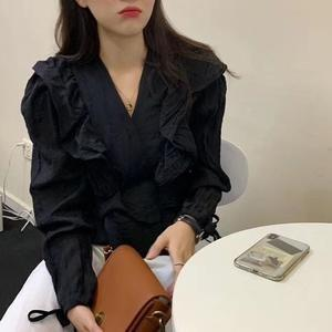 AFFNIQCHIC Caley,Fashion Korean Style Women Long Sleeve Polyester Blouse