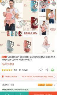 aiebao gendongan bayi baby carrier