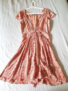 Alannah Hill Silk Floral Dress (like zara, Alice olivia, vintage, bimba y lola style)