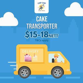 CAKE TRANSPORTER!! DELIVERY OF CAKE SERVICES!'