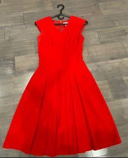 Calvin Klein Red Dress. Size zero.