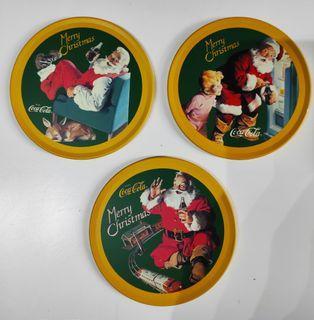 絕版可口可樂聖誕杯墊-Coca Cola Santa Claus Coaster