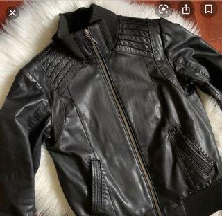 Daniel leather Mackage style jacket Aritzia