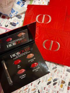 Dior rouge lipstick card
