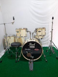 Drum set pearl vision birch 6 pcs putih gading