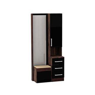 Furniture Meja Lemari Rias Doncaster MR - Black Wood