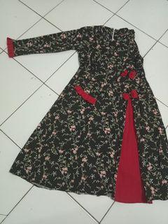 Gamis anak warna hitam (Delisa) tanpa kerudung