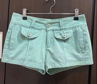 Holister海鷗藍綠色短褲熱褲