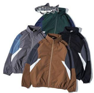 【JKS】AGILITY Athletic Jacket 卡其色  防潑水 防風 日系 機能性 拼接 撞色 運動外套