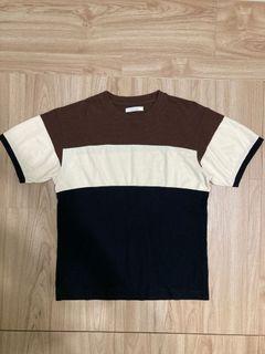 出清!Journal Standard 拼接針織紋理短袖上衣 T-shirt Tee-S號