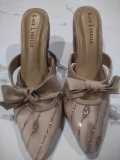 Lace Lynelle wedding party shoes heels
