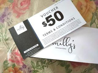20% off! Milly's Singapore $50 voucher for manicure, pedicure, eyelash, etc