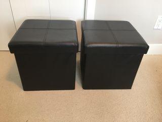 Mini ottoman / storage boxes