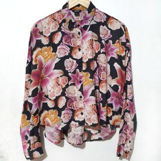 Monki floral buttondown
