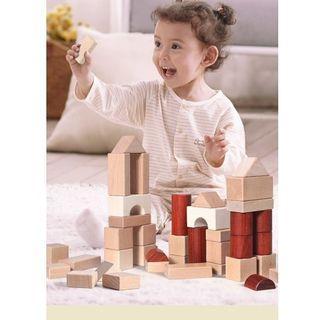 ONSHINE 46 pcs Building Blocks/Mainan Balok Kayu