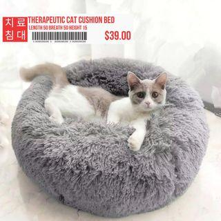 Orthopedic Support Grey Pet Bed Cushion